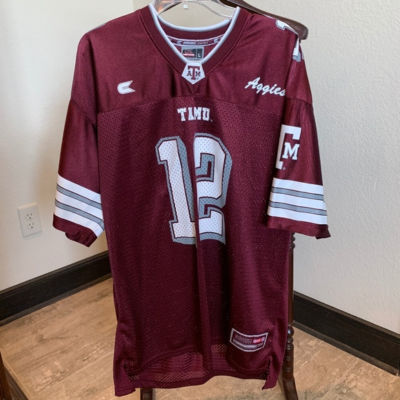 detailed look f98a0 8a613 Texas A&M Football Jersey #12 318